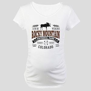 Rocky Mountain Vintage Maternity T-Shirt