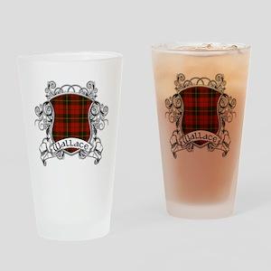 Wallace Tartan Shield Drinking Glass