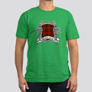 Wallace Tartan Shield Men's Fitted T-Shirt (dark)
