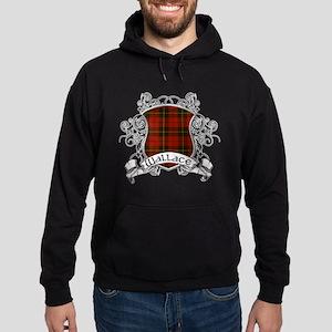 Wallace Tartan Shield Hoodie (dark)