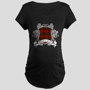 Wallace Tartan Shield Maternity Dark T-Shirt
