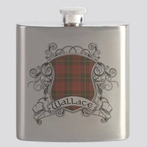 Wallace Tartan Shield Flask