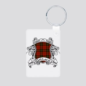 Wallace Tartan Shield Aluminum Photo Keychain