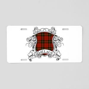Wallace Tartan Shield Aluminum License Plate