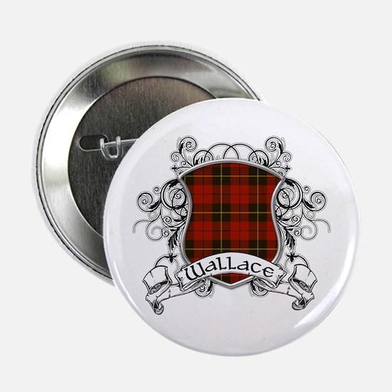 """Wallace Tartan Shield 2.25"""" Button"""