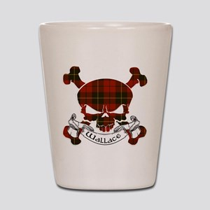 Wallace Tartan Skull Shot Glass