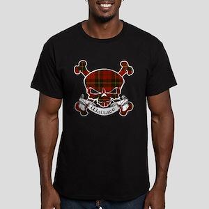 Wallace Tartan Skull Men's Fitted T-Shirt (dark)