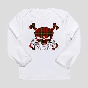 Wallace Tartan Skull Long Sleeve Infant T-Shirt