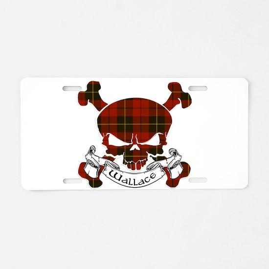 Wallace Tartan Skull Aluminum License Plate