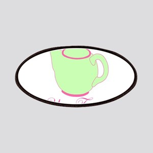 Personalizable Pink and Green Teapot Patches