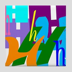 Initial Design (H) Tile Coaster