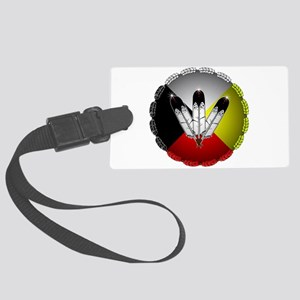 Three Eagle Feathers Luggage Tag