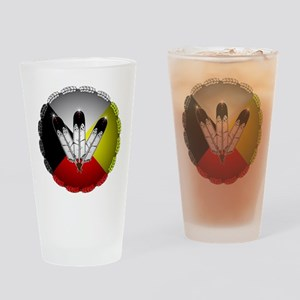 Three Eagle Feathers Drinking Glass