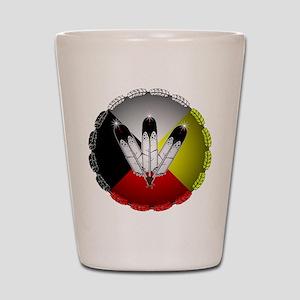 Three Eagle Feathers Shot Glass