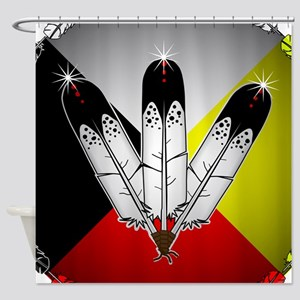Three Eagle Feathers Shower Curtain