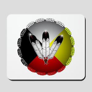 Three Eagle Feathers Mousepad