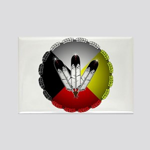 Three Eagle Feathers Magnets