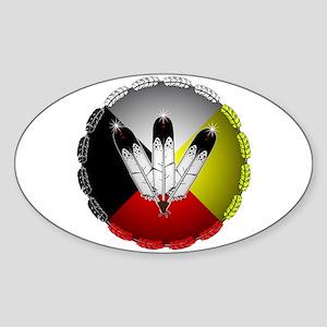 Three Eagle Feathers Sticker