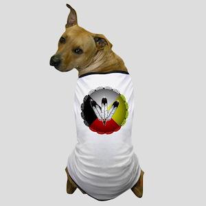 Three Eagle Feathers Dog T-Shirt