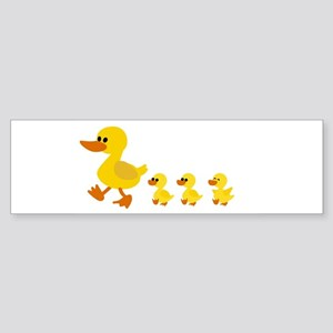 duck family triplets Bumper Sticker
