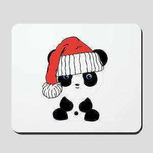 Santa Panda Bear Mousepad