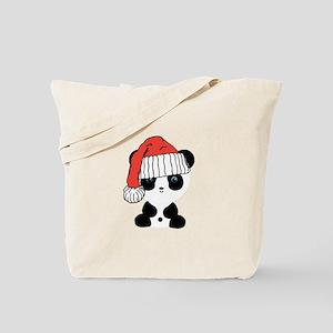 Santa Panda Bear Tote Bag
