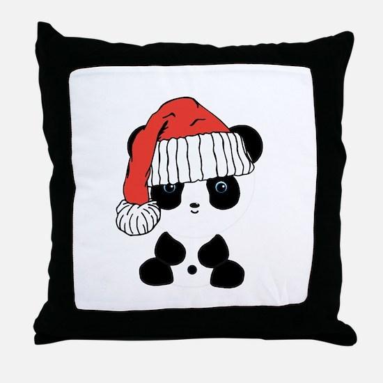 Santa Panda Bear Throw Pillow