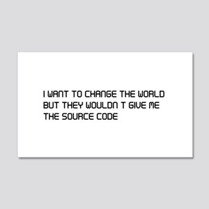 Change the world source code Wall Decal