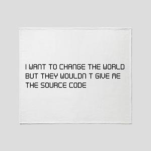 Change the world source code Throw Blanket