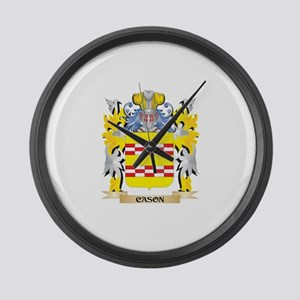 Cason Coat of Arms - Family Crest Large Wall Clock