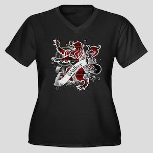 Walker Tarta Women's Plus Size V-Neck Dark T-Shirt