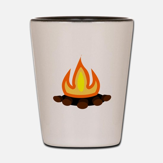 Camp Fire Shot Glass