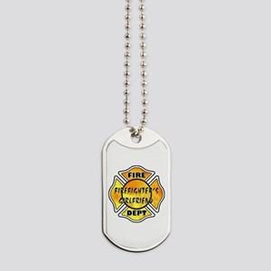 Firefighters Girlfriend Dog Tags