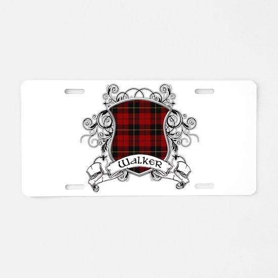 Walker Tartan Shield Aluminum License Plate