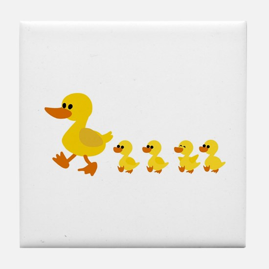 Cute Baby duck Tile Coaster