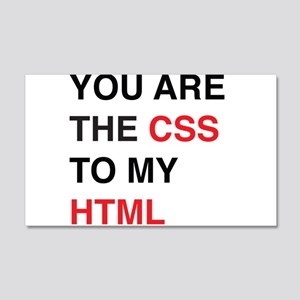You are the css to my html Wall Decal