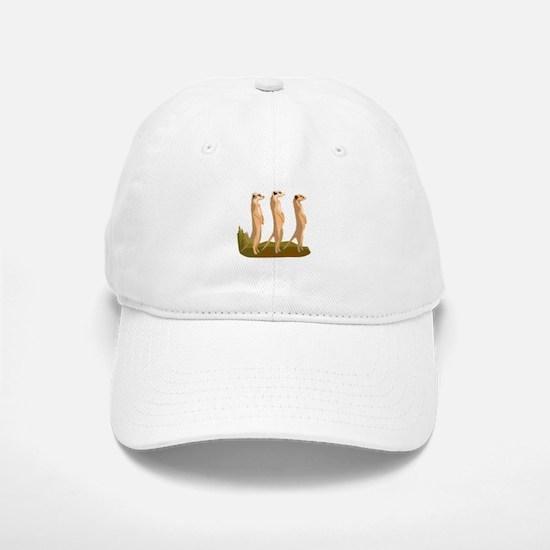 Three Meerkats Baseball Cap