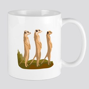 Three Meerkats Mugs
