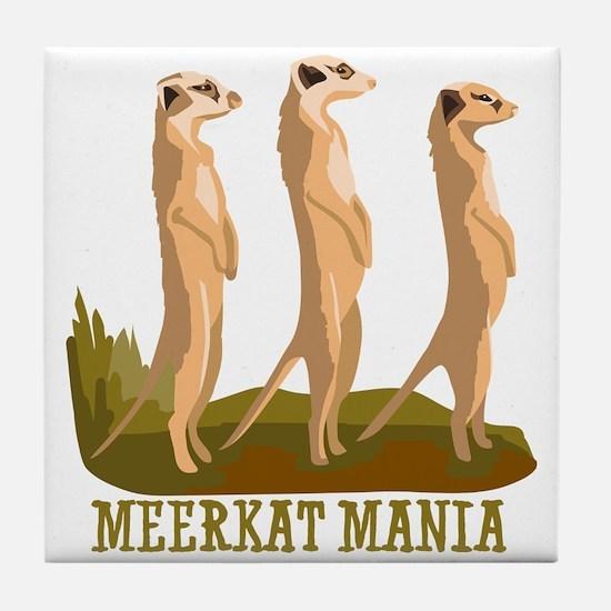 Meerkat Mania Tile Coaster