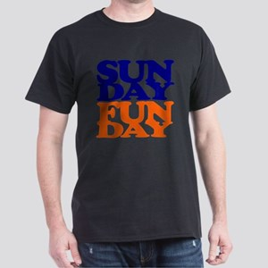 Sunday Funday Orange And Blue T-Shirt