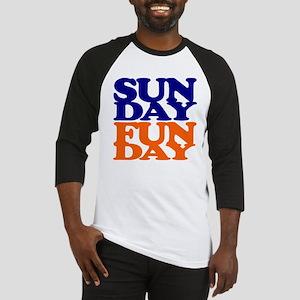 Sunday Funday Orange And Blue Baseball Jersey