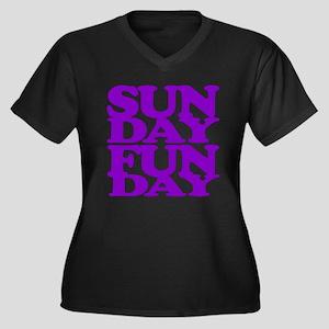 Sunday Funday Purple Plus Size T-Shirt