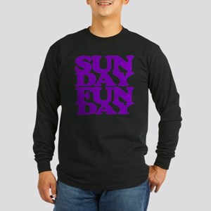 Sunday Funday Purple Long Sleeve T-Shirt