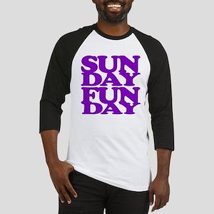 Sunday Funday Purple Baseball Jersey