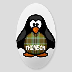 Thomson Tartan Penguin Sticker (Oval)