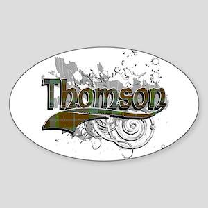 Thomson Tartan Grunge Sticker (Oval)