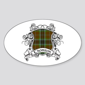 Thomson Tartan Shield Sticker (Oval)