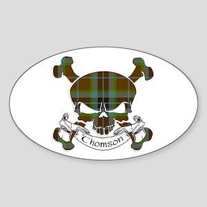 Thomson Tartan Skull Sticker (Oval)