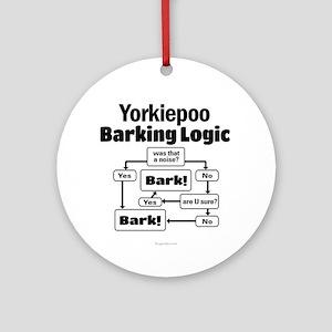 Yorkiepoo logic Ornament (Round)