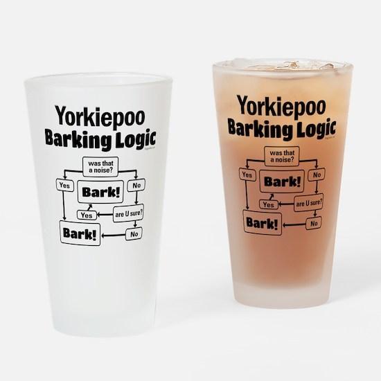 Yorkiepoo logic Drinking Glass